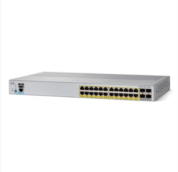 Catalyst 2960L 24 port GigE with PoE, 4 x 1G SFP, LAN Lite
